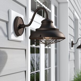 Hallsboro 1-Light Outdoor Barn Light by Longshore Tides