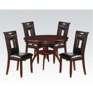Roger 5 Piece Solid Wood Dining Set by A&..