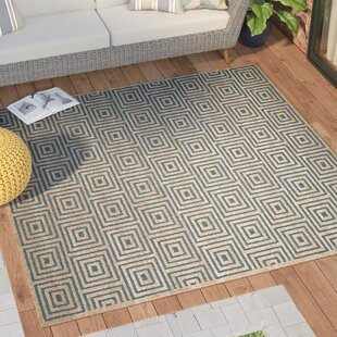 Candor Light blue/Cream Indoor/Outdoor Area Rug