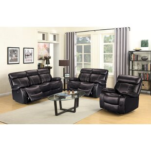 Alvia Reclining 3 Piece Living Room Set Living In Style