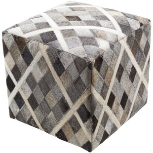 Iraan Leather Pouf