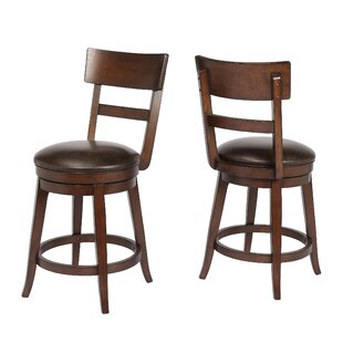 Caskey 24 Swivel Bar Stool by Red Barrel Studio
