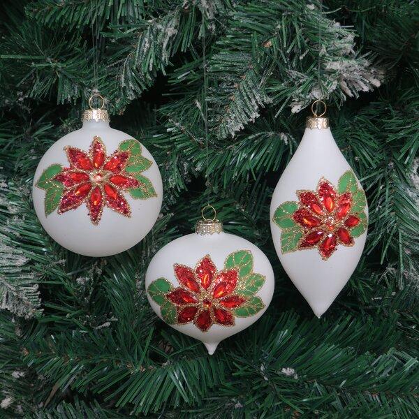 Poinsettia Ornaments Wayfair