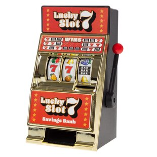 Lucky 7s Slot Machine Coin Bank by Trademark Games