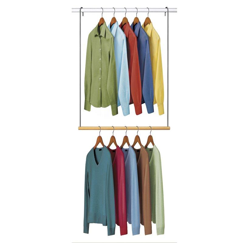 Double Hang Closet Rod Hanging Organizer