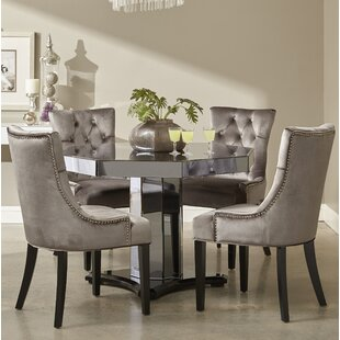 Brocklesby Smoked 5 Piece Dining Set Rosdorf Park