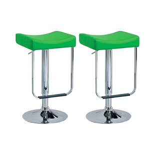 Swivel Adjustable Bar Stool (Set Of 2) By 17 Stories