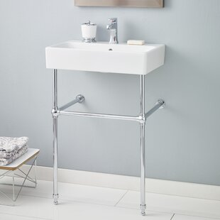 Nuo Ceramic 24 Console Bathroom Sink with Overflow ByCheviot Products