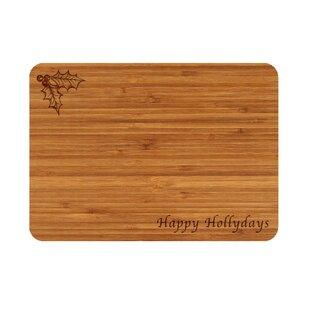 Bamboo Happy Hollydays Cutting Board