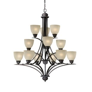 Andover Mills Bourbon 12-Light Shaded Chandelier