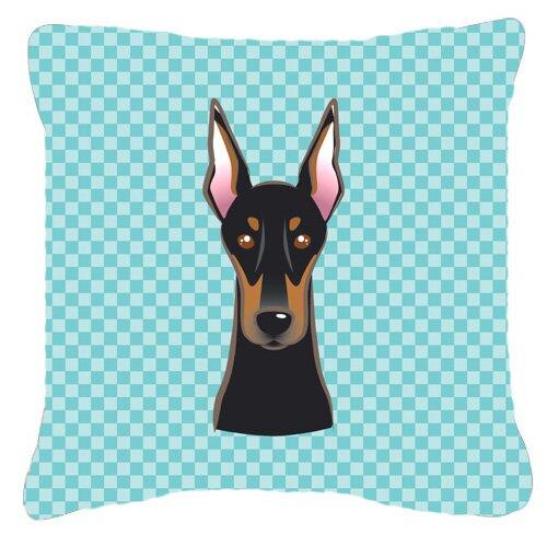Caroline S Treasures Checkerboard Doberman Indoor Outdoor Throw Pillow Wayfair