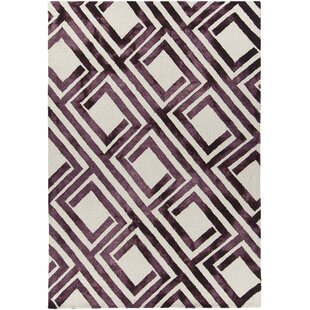 Purchase Garon Hand-Tufted Purple/White Area Rug By Brayden Studio