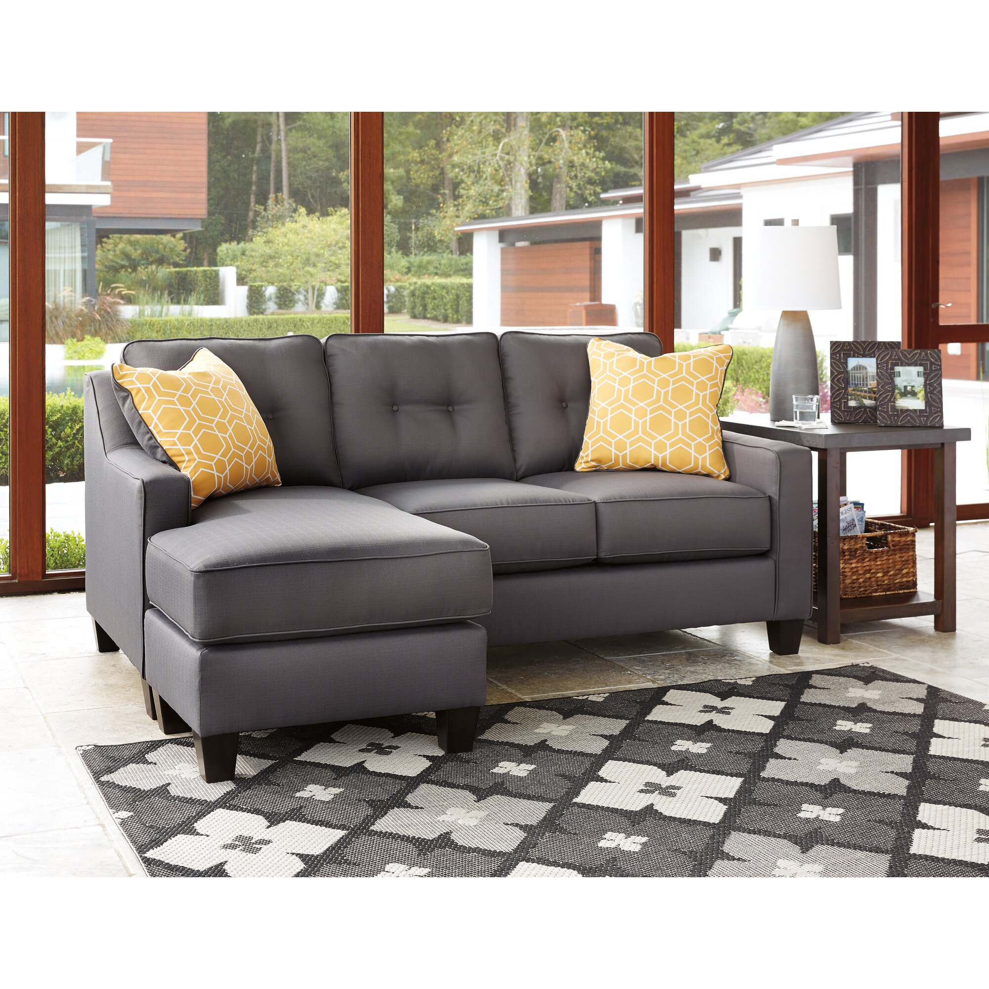 Benchcraft Al Reversible Sectional & Reviews