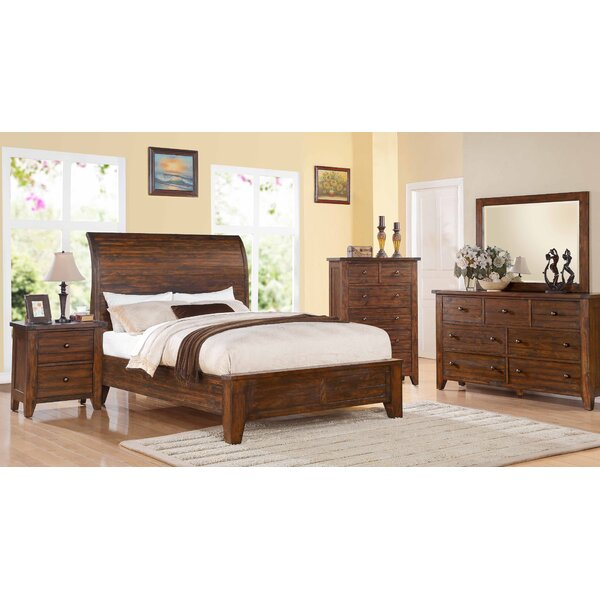 island chamfer canopy bed walnut bedroom sets youll love wayfair