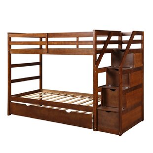 Gage Twin Over Full Bed with Trundle by Harriet Bee