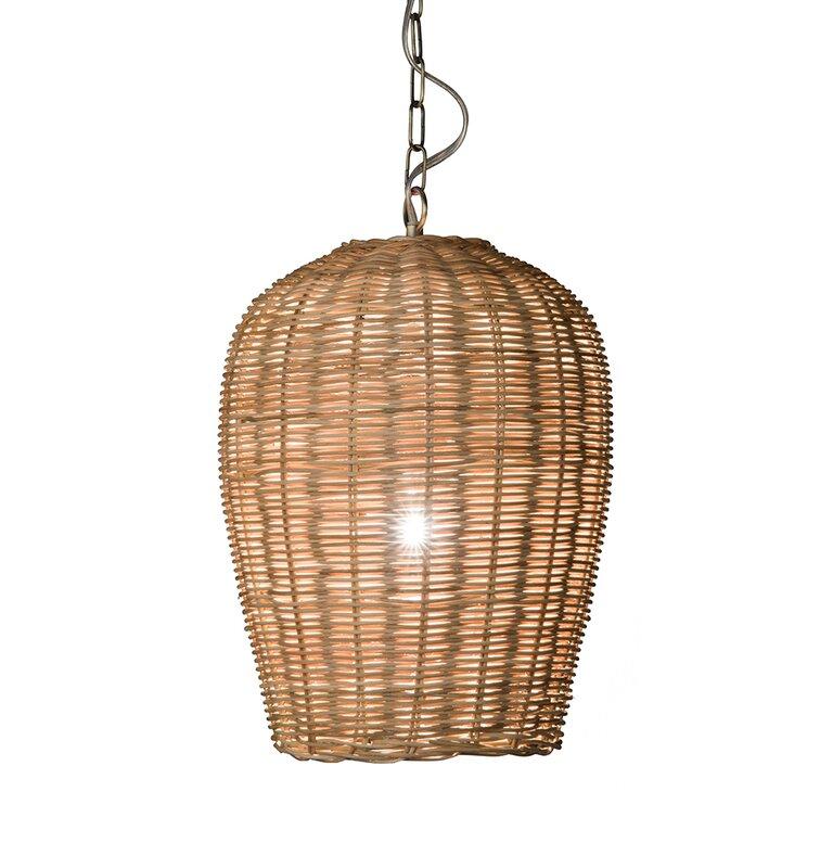 Mistana Elodie 1 Light Single Bell Pendant Reviews Wayfair
