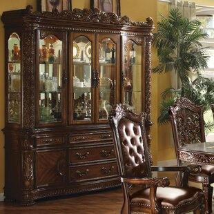 Welles Lighted China Cabinet