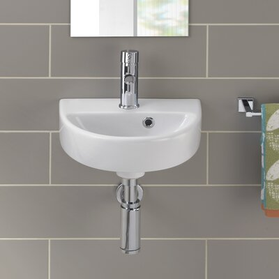 Bissonnet Twins Vitreous China 15 Wall Mount Bathroom Sink with Overflow