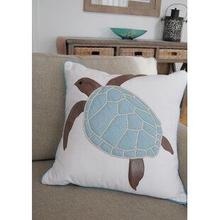 Yunior Sea Turtle Beaded Throw Pillow
