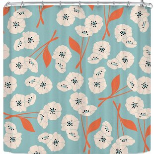 lela Retro Bloom Garden 003 Single Shower Curtain