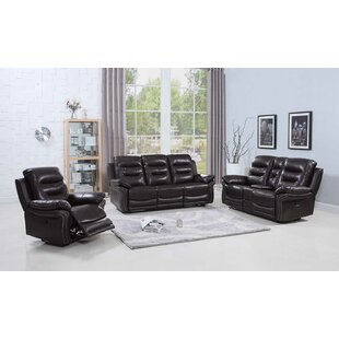 Trower Reclining 3 Piece Living Room Set Red Barrel Studio