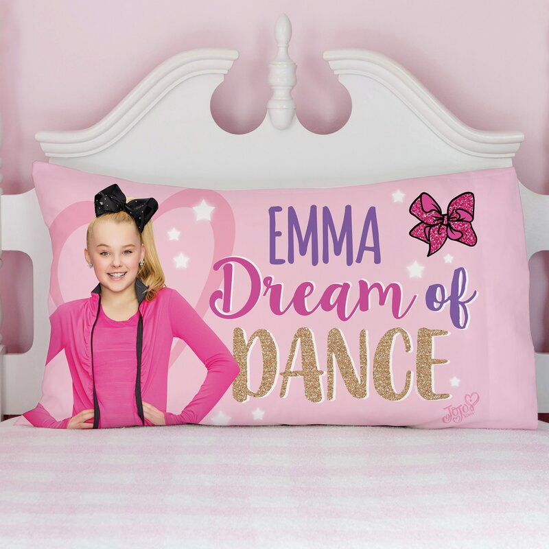 73a9bf4827679 CPS Personalized JoJo Siwa Dream of Dance Pillow Case
