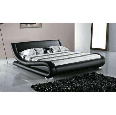 Wade Logan Leavitt Upholstered Platform Bed Size: California King, Colour: Dark Brown