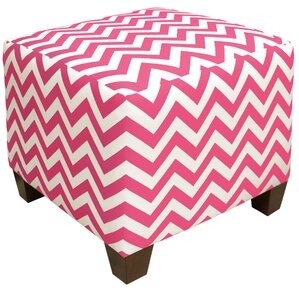 Zipcode Design Michelle Square Ottoman in Candy Pink