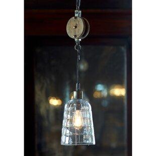 Pulley 1-Light Cone Pendant by Melrose International