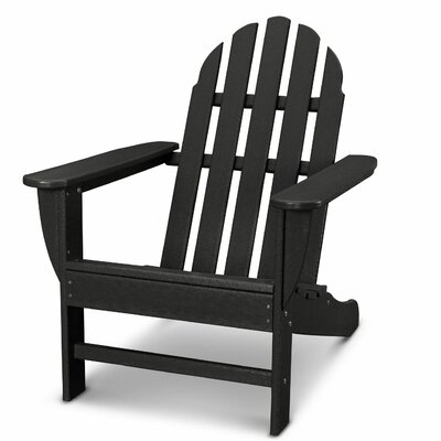 Classic Adirondack Chair Color: Black