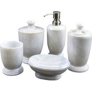 Atlantic Marble 5 Piece Bathroom Accessory Set