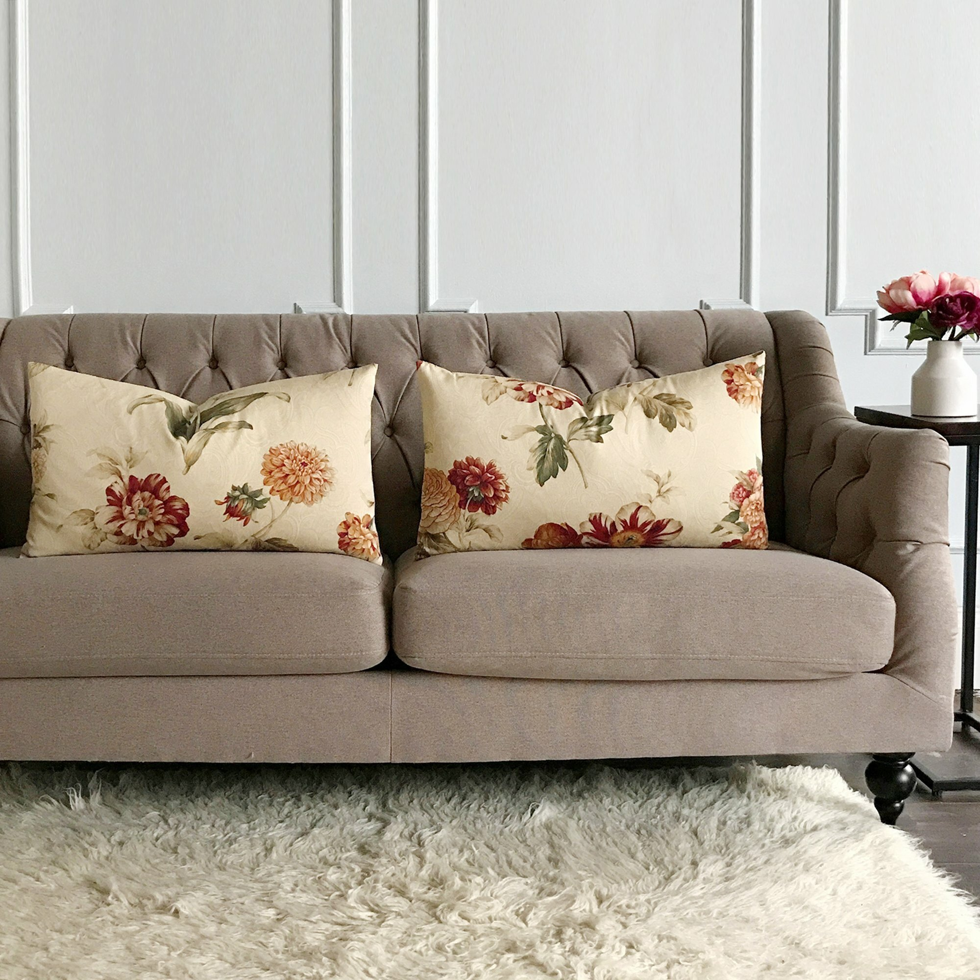 Jaworski Elegant Fl Luxury Decorative Pillow Cover