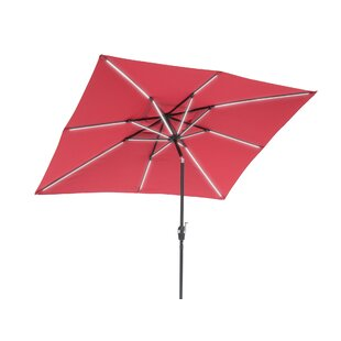 Harriette Solar Lighted 9' x 7' Rectangular Market Umbrella