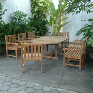 Bayou Breeze Kranz Extension 9 Piece Teak Dining Set