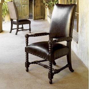 Kingstown Edwards Genuine Leather Upholstered Dining Chair (Set of 2) Tommy Bahama Home