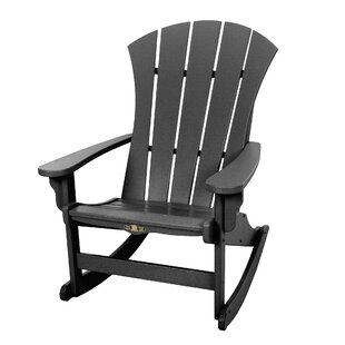 Yeager Plastic Rocking Adirondack Chair