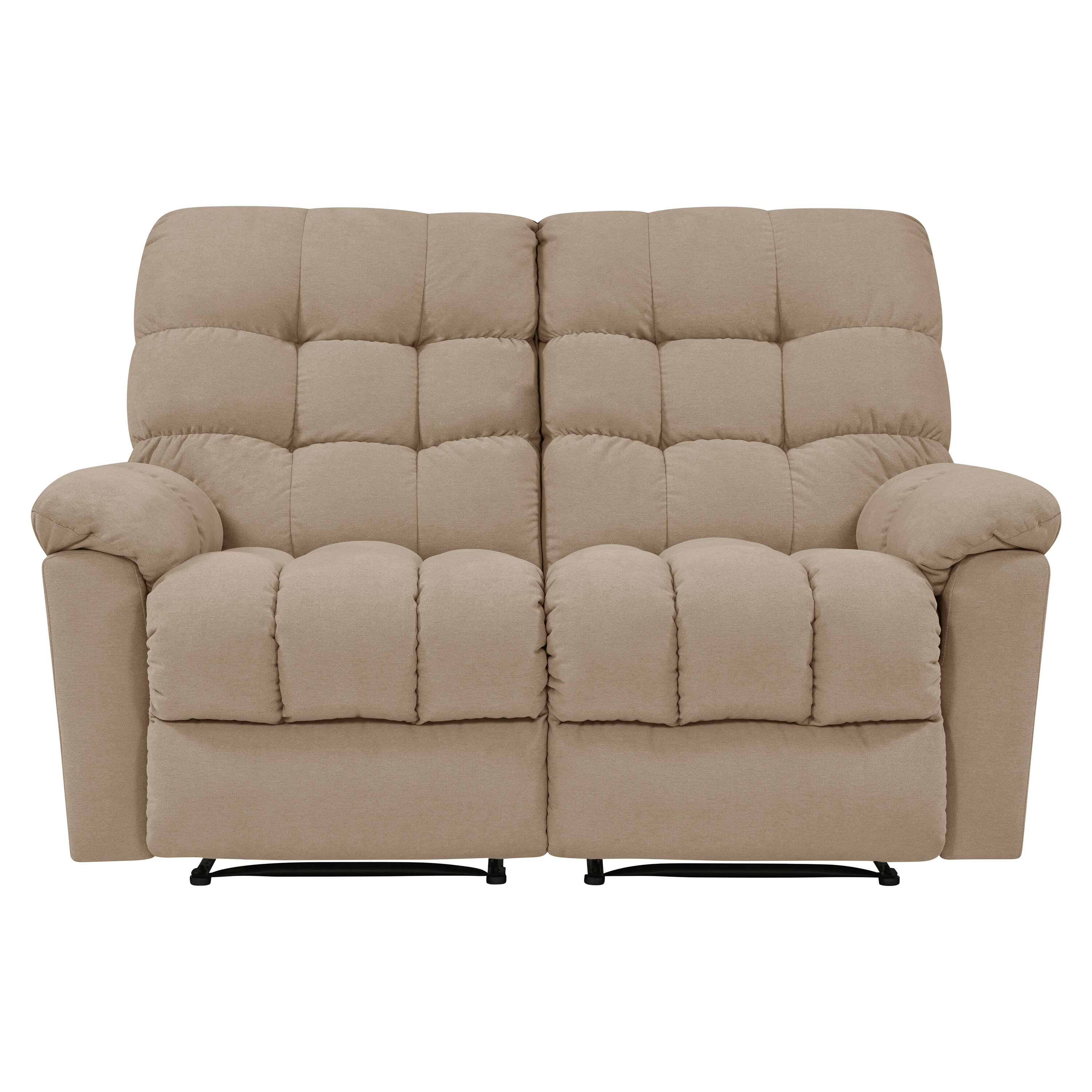 Pleasing Maxfield Tufted Reclining Loveseat Squirreltailoven Fun Painted Chair Ideas Images Squirreltailovenorg