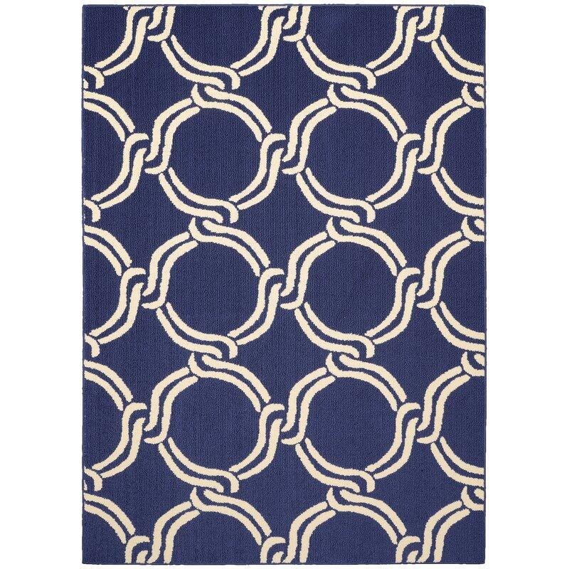 Garland Rug Tufted Geometric Indigo Ivory Area Rug Reviews Wayfair