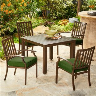 Darby Home Co Yandel Bridgeport 5 Piece Dining Set with Cushions