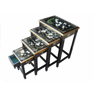Cherry Blossom 4 Piece Nest Of Tables By World Menagerie
