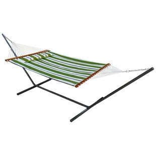 Online Reviews Hibiscus Premium Reversible Two Person Cotton Hammock By Beachcrest Home