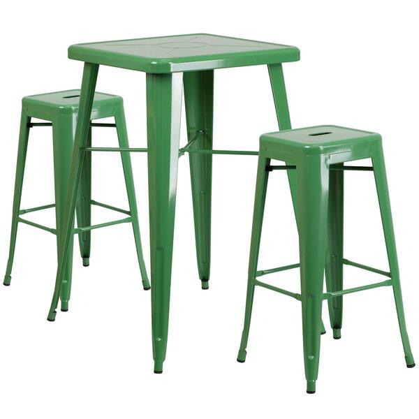 Zipcode Design Athens 3 Piece Bar Table Set U0026 Reviews | Wayfair