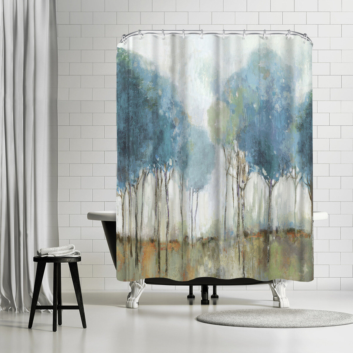 East Urban Home Pi Creative Art Misty Meadow Ii Single Shower Curtain Reviews Wayfair
