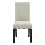Verga Linen Dining Chair (Set of 2) by Red Barrel Studio®