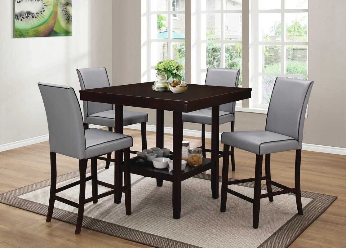 Darby home co mckee 5 piece counter height dining set reviews mckee 5 piece counter height dining set dzzzfo