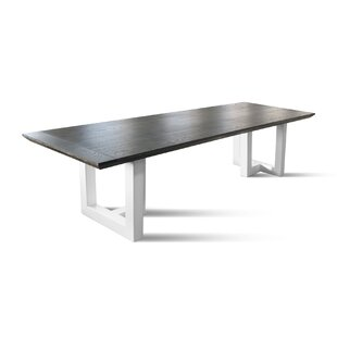 17 Stories Jill Solid Wood Dining Table