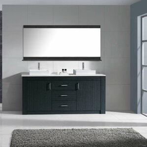 double vessel sink vanity. Glen Ridge 60  Double Bathroom Vanity Set with White Top and Mirror Vessel Sink Vanities You ll Love Wayfair