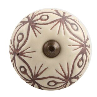 Etched Ceramic Round Knob
