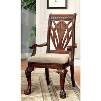 Darby Home Co Leith Upholstered Queen Anne Back Arm Chair In Rich Cherry Reviews Wayfair