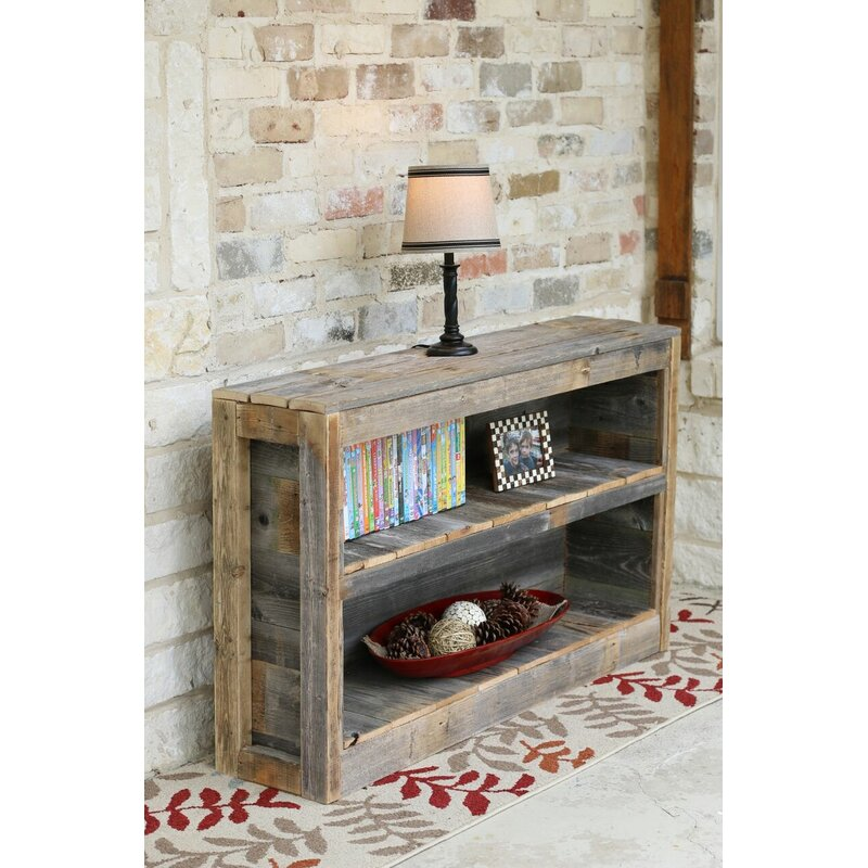 Gracie Oaks Messenger Rustic Tv Stand For Tvs Up To 50 Reviews Wayfair